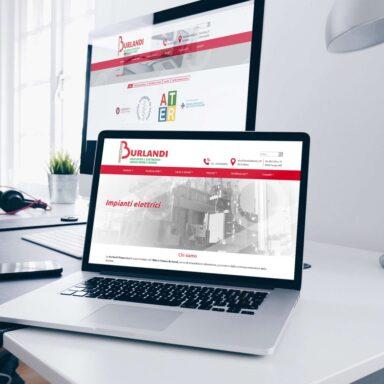 Sito web per Burlandi con struttura e grafica personalizzata