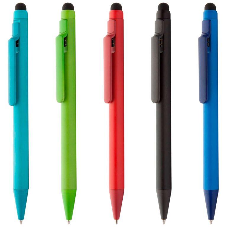 Esempi di colore per penna a sfera con touch screen e finitura opaca