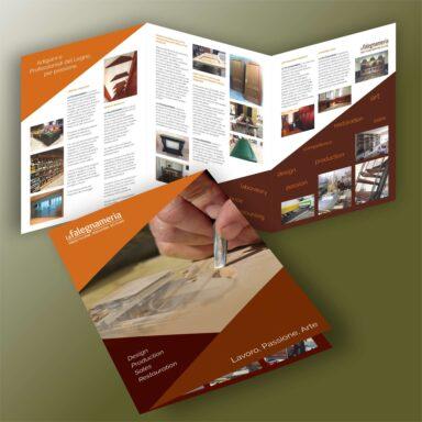 Brochure istituzionale dépliant a 3 ante formato chiuso A4