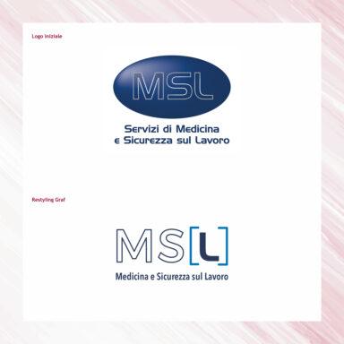 Restyling marchio MSL, società di Medicina e sicurezza sul lavoro