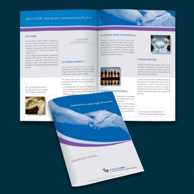 Brochure Istituzionale 12 pagine Un.I.Coop.