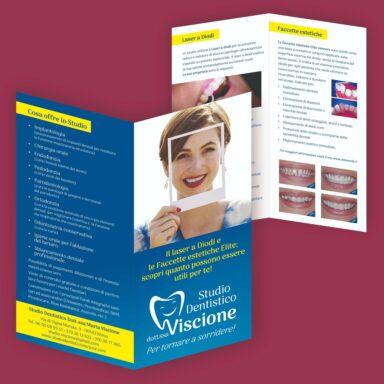 Dépliant 2 ante formato chiuso 10x21 per Dentista Dr.ssa Viscione
