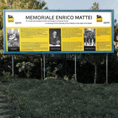 Pannello commemorativo su Enrico Mattei installato a Bascapé