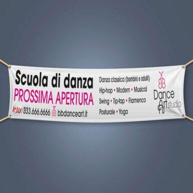 Banner promozionale per scuola di danza