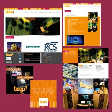 Immagine coordinata su alcuni prodotti realizzati per Beep!