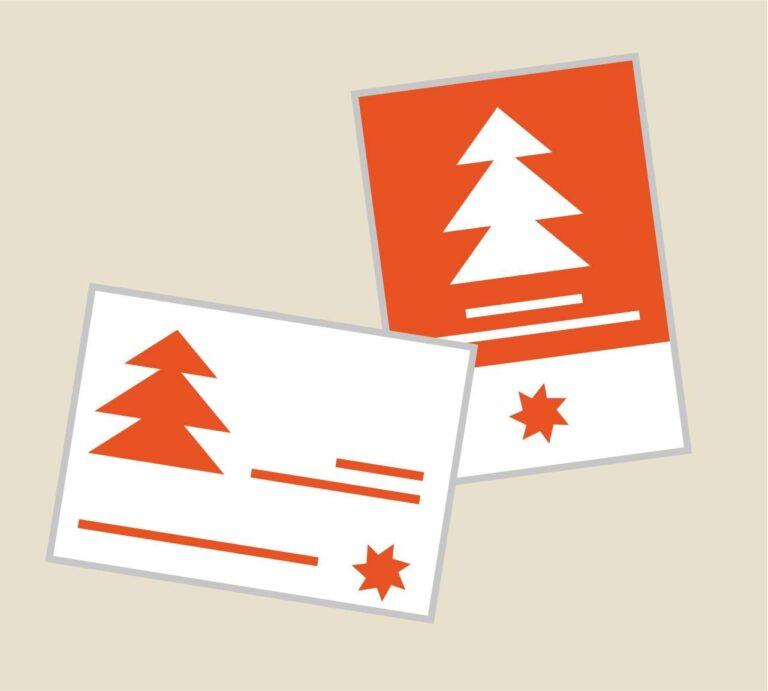 Personalizzazione biglietti di auguri natalizi