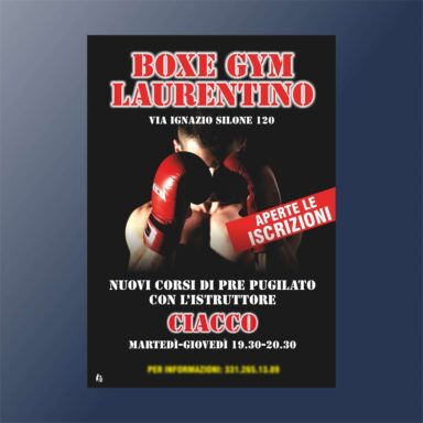Volantino pubblicitario Box Gym Laurentino