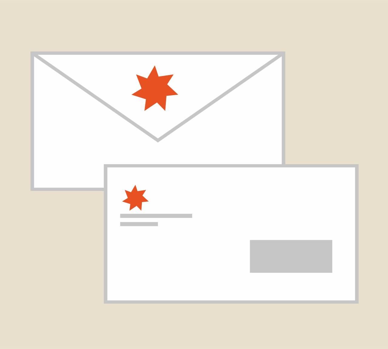Stampa buste da lettera commerciali