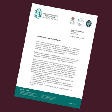 Carta intestata Gestione Immobiliare