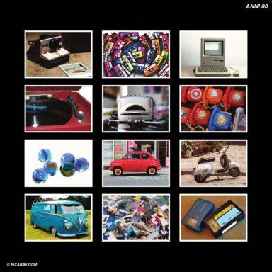Tema fotografico per calendari con box tipo CD: Anni 80
