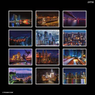 Tema fotografico per calendari con box tipo CD: Città