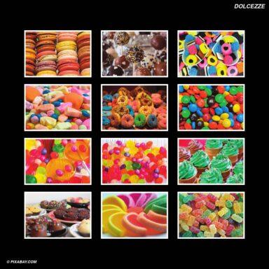 Tema fotografico per calendari con box tipo CD: Dolci