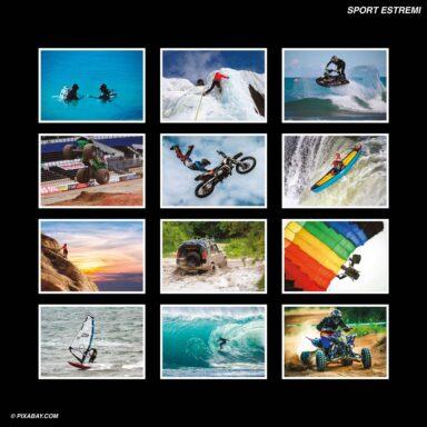 Tema fotografico per calendari con box tipo CD: Sport Estremi