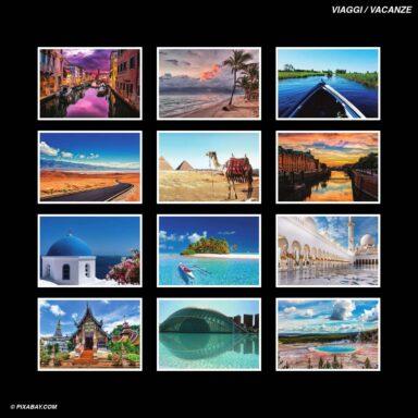 Tema fotografico per calendari con box tipo CD: Viaggi e Vacanze