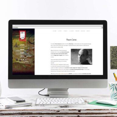 Sito web per Mauro Carac con acquisto template e personalizzazione