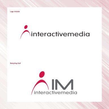 Restyling marchio Interactive Media, azienda di servizi di communication technology