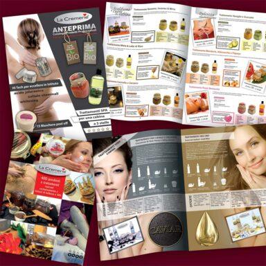 Catalogo prodotti linea viso e corpo La Cremerie
