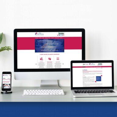 Sito web per New d-Economy con struttura e grafica personalizzata