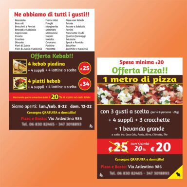 Volantino offerta pizza