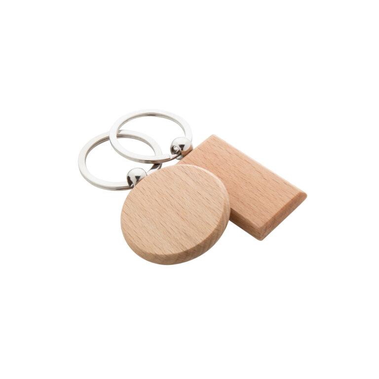 Portachiavi in legno tondo e rettangolare