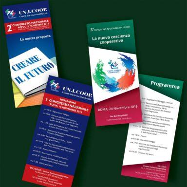 Programmi per evento istituzionale Un.I.Coop. monoanta 10x21