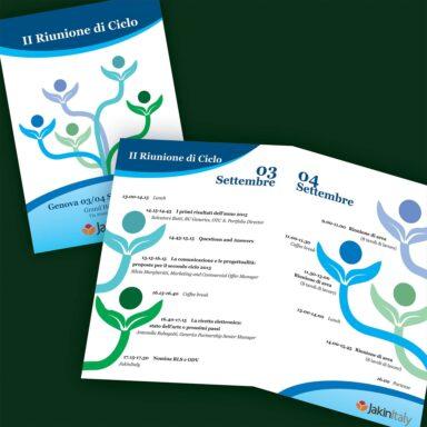 Programma per Riunione di Ciclo JakinItaly 2015 , 2 ante, formato A5 chiuso