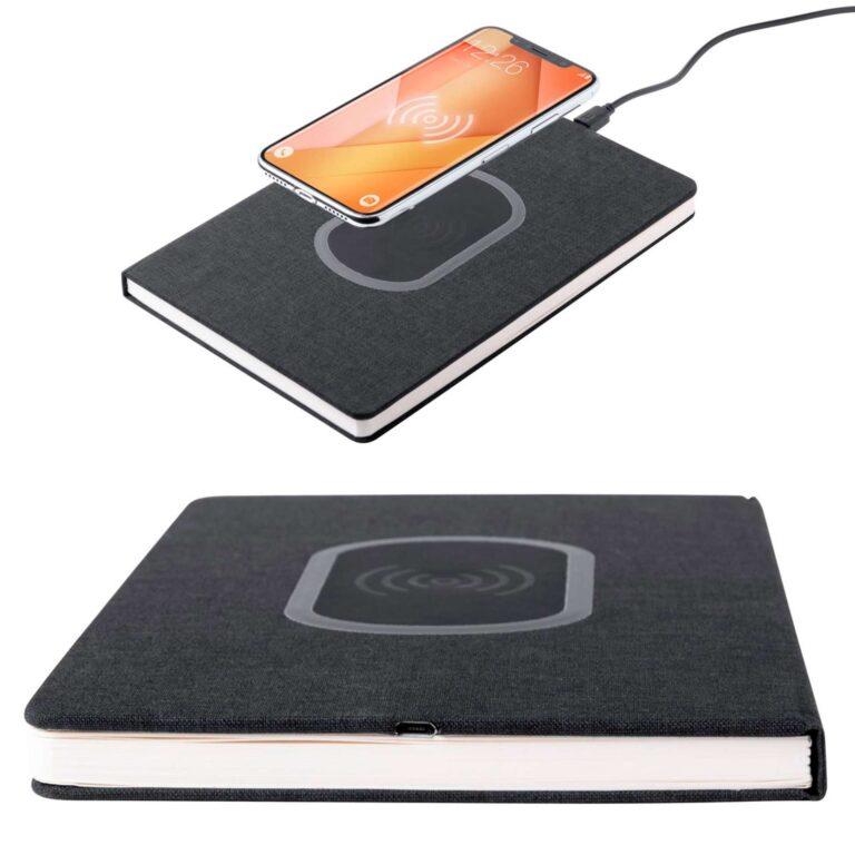 Quaderno taccuino con carica batteria