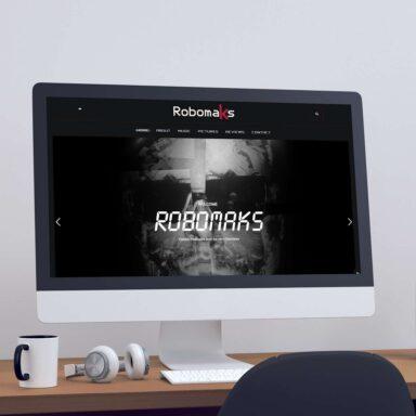 Sito web per Robomaks con acquisto e personalizzazione template