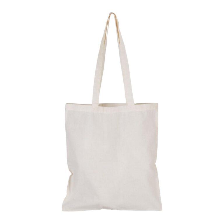Shopper cotone manico lungo beige