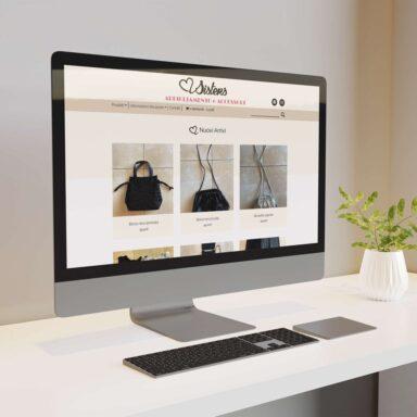 Sito web ecommerce per Sisters realizzato con struttura e grafica personalizzata