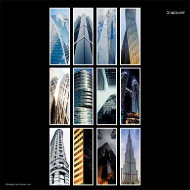 Calendario da muro 14,5x42: tema fotografico: Grattacieli