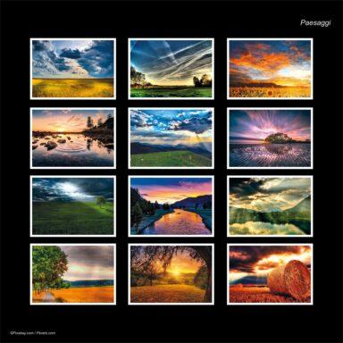 Calendario da muro A4: tema fotografico: Paesaggi