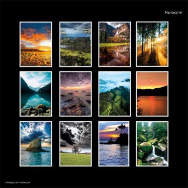 Calendario da muro A4: tema fotografico: Panorami