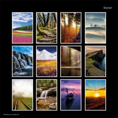 Calendario da muro 14,5x42: tema fotografico: Scenari