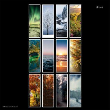 Calendario da muro 14,5x42: tema fotografico: Scorci