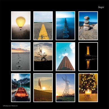 Calendario da muro 14,5x42: tema fotografico: Segni