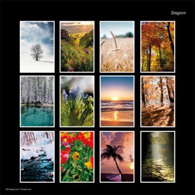 Calendario da muro 14,5x42: tema fotografico: Stagioni