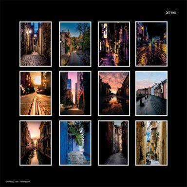 Calendario da muro A4: tema fotografico: Street